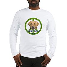 Labs 4 Peace-Yellow Long Sleeve T-Shirt