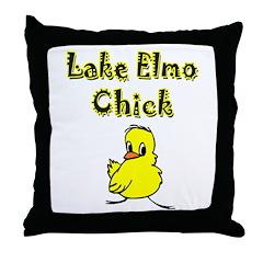 Lake Elmo Chick Throw Pillow