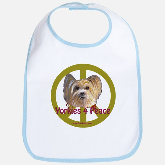 Yorkies 4 Peace Bib