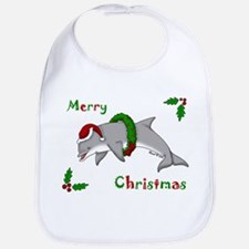 Christmas Dolphin Bib