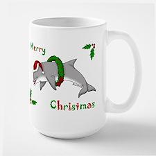 Christmas Dolphin Large Mug