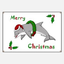 Christmas Dolphin Banner