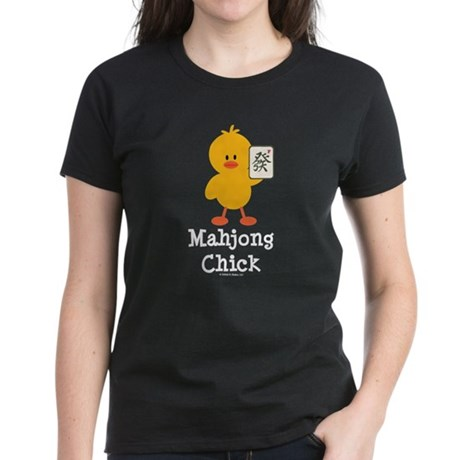 Mahjong Chick Women's Dark T-Shirt