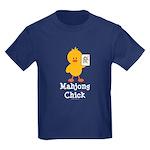 Mahjong Chick Kids Dark T-Shirt