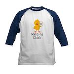 Mahjong Chick Kids Baseball Jersey