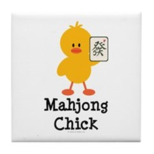 Mahjong Chick Tile Coaster
