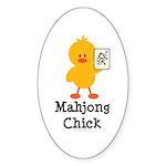 Mahjong Chick Oval Sticker (50 pk)