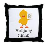Mahjong Chick Throw Pillow