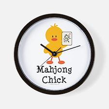 Mahjong Chick Wall Clock