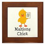 Mahjong Chick Framed Tile