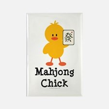 Mahjong Chick Rectangle Magnet (10 pack)