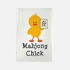 Mahjong Chick Rectangle Magnet