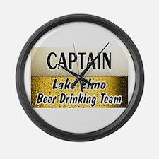 Lake Elmo Beer Drinking Team Large Wall Clock