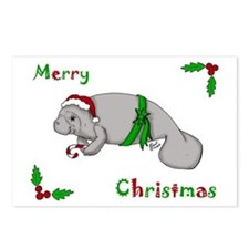 Christmas Manatee Postcards (Package of 8)