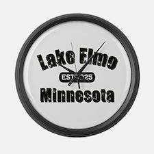 Lake Elmo Established 1925 Large Wall Clock