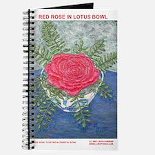ROSE IN LOTUS BOWL PAINTING Journal