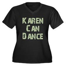 Karen Women's Plus Size V-Neck Dark T-Shirt