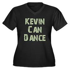 Kevin Women's Plus Size V-Neck Dark T-Shirt