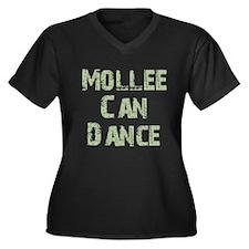 Mollee Women's Plus Size V-Neck Dark T-Shirt