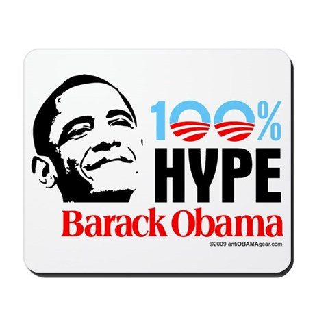 100% Hype Barack Obama Mousepad