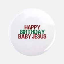 "Happy Birthday Baby Jesus 3.5"" Button (100 pack)"