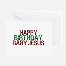Happy Birthday Baby Jesus Greeting Card