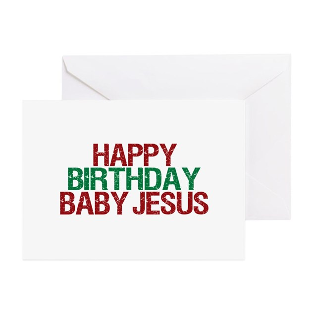 Happy Birthday Baby Jesus Greeting Cards (Pk Of 10 By