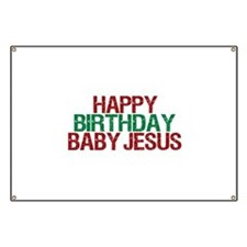 Happy Birthday Baby Jesus Banner
