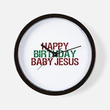 Happy Birthday Baby Jesus Wall Clock