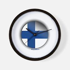 Finland - Heart Wall Clock