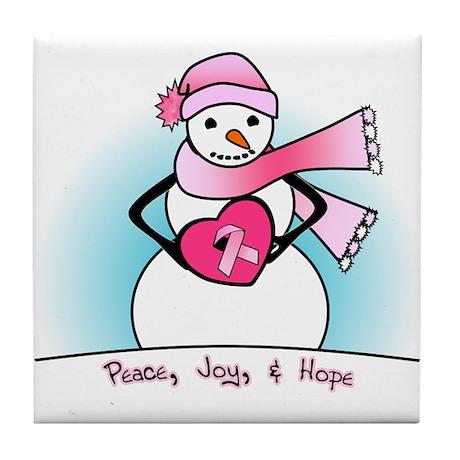 Peace, Joy, & Hope Tile Coaster