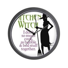 Kitchen Witch.2 Wall Clock