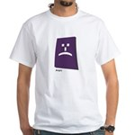 angry White T-Shirt