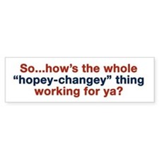 Hopey-Changey Bumper Bumper Sticker