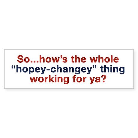 Hopey-Changey Bumper Sticker