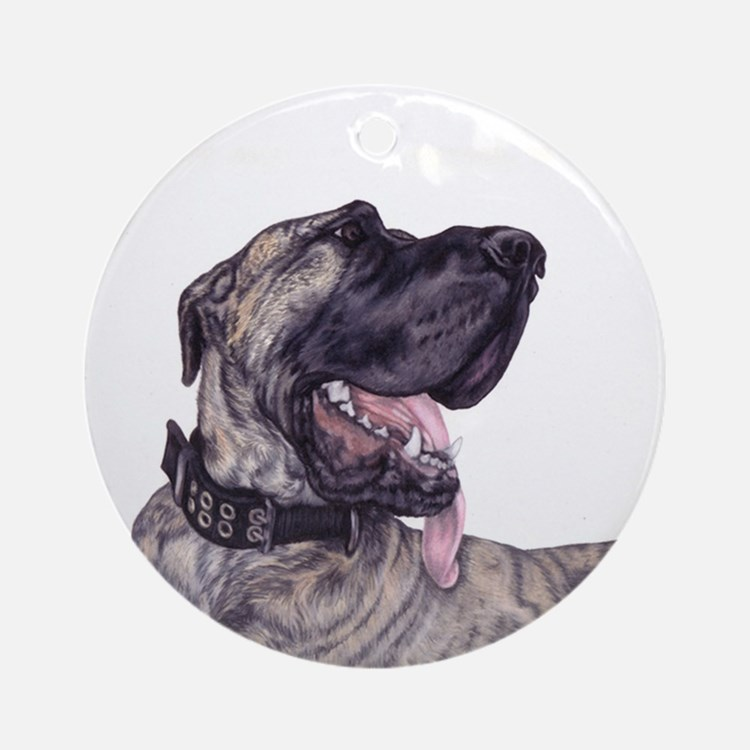 Brindle Great Dane Ornament (Round)