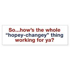 Hopey-Changey Bumper Bumper Sticker