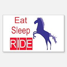 Eat Sleep Ride Horse Lover Rectangle Decal