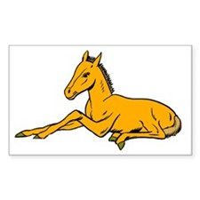 Foal Horse Lover Rectangle Decal