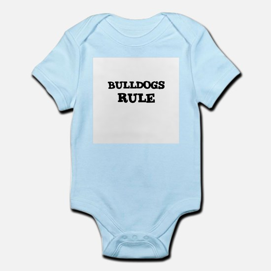 BULLDOGS RULE Infant Creeper