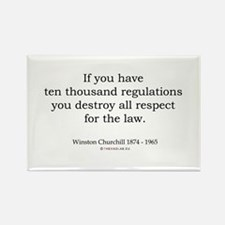 Winston Churchill 12 Rectangle Magnet (100 pack)