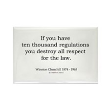 Winston Churchill 12 Rectangle Magnet
