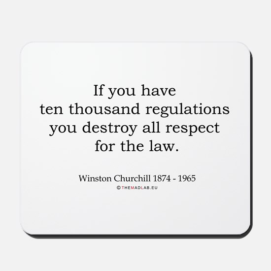 Winston Churchill 12 Mousepad