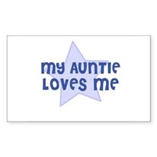 My Auntie Loves Me Rectangle Decal
