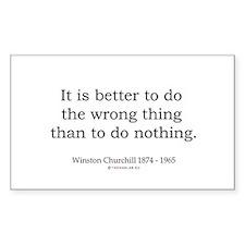 Winston Churchill 13 Rectangle Sticker 10 pk)