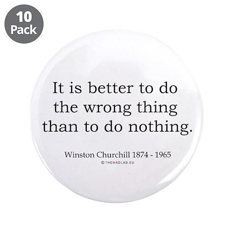 "Winston Churchill 13 3.5"" Button (10 pack)"