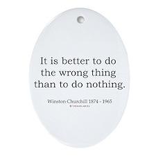 Winston Churchill 13 Oval Ornament
