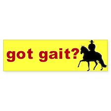 got gait Peruvian Bumper Bumper Sticker