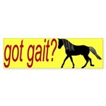 got gait gaited horse Bumper Sticker