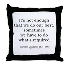 Winston Churchill 14 Throw Pillow